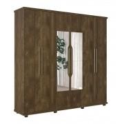Guarda Roupa 6 Portas Ágata com espelho Imbuia - FabriMóveis