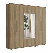 Guarda Roupa 6 Portas Ágata com espelho Niágara - FabriMóveis