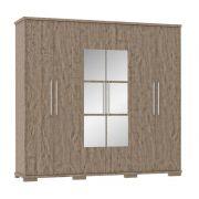 Guarda-Roupa 6 Portas com Espelho Sentra Cacau - Fênix