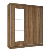 Guarda Roupa Blumenau Plus III com espelho Rústico - Mirarack