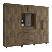 Guarda-Roupa Casal Veneza 6 Portas Capelinha com Espelho Amadeirado - RV Móveis