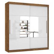 Guarda-Roupa Ipanema com Espelho Canela com Off White - Mirarack