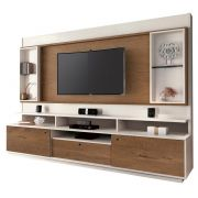 Home Theater Coliseu Off White com Naturale - Edn Móveis