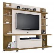 Home Theater New Torino Cinamomo com Off White - Móveis Bechara