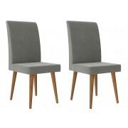 Jogo de 2 Cadeiras Jade Naturale Cinza - RV Móveis