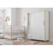Jogo de Quarto de Bebê Branco Soft Liv - Matic Móveis