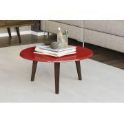 Mesa de Centro Retro Brilhante Vermelho - Moveis Bechara