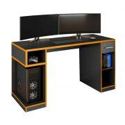 Mesa Gamer IDL XP 1000 Pro Preto/Laranja - Germai Móveis