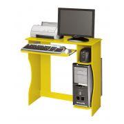 Mesa para Computador Lívia Amarelo - Edn Móveis