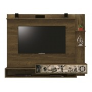 Painel para TV Fluence Nogal Rustico com Cinema - Edn Moveis