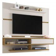 Painel para TV Búzios Off White com Cinamomo - Móveis Bechara