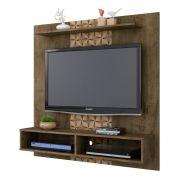 Painel para TV Gama Madeira Rústica com Madeira 3D - Móveis Bechara