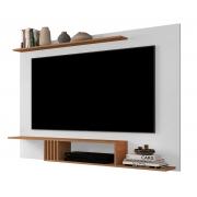 Painel para TV Gravity 1.6 Branco com Freijó - MoveisAqui