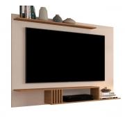 Painel para TV Luxo 1.6 Off White com Freijó - MoveisAqui