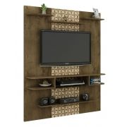 Painel para TV Sigma Madeira Rústica com Madeira 3D - Móveis Bechara
