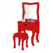 Penteadeira Fany Vermelho - Divaloto Móveis