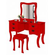 Penteadeira Tayná Vermelho - Divaloto Móveis