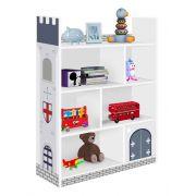 Prateleira Infantil Castelo Branco com Azul - J&A Móveis
