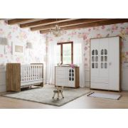 Quarto de Bebê Completo Amore 3 Portas Branco Soft com Teka - Matic Móveis