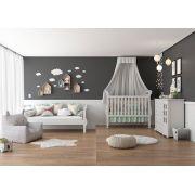 Quarto de Bebê Completo Branco Brilho Bambini - Matic Móveis