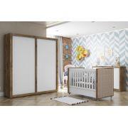 Quarto de Bebê Completo Branco Soft com Teka Tutto New Portas de Correr - Matic Móveis