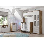 Quarto de Bebê Completo Delicato Branco Soft com Teka - Matic Móveis