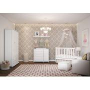 Quarto de Bebê Completo Fratelli 3 Portas Branco Brilho - Matic Móveis