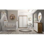 Quarto de Bebê Completo Fratelli Portas de Correr Branco Soft com Teka - Matic Móveis