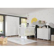 Quarto de Bebê Completo Treliça Branco Brilho - Matic Móveis