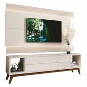 Rack com Painel Delux 2.2 com LED Off White - MoveisAqui