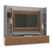 Rack com Painel Eros II 2.2 Gianduia com Dakota - Casa D