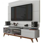 Rack com Painel Para TV 55 Polegadas Branco Classic +AD 1.8 com LED - Imcal Móveis