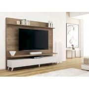Rack com Painel para TV 55 Retrô 1.80 Mercury Madeira Branco - MóveisAqui