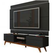 Rack com Painel Para TV 60 Polegadas Preto Classic 2G 2.2 com LED - Imcal Móveis