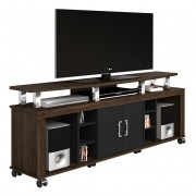 Rack para TV Mega New Castanho com Preto - Imcal