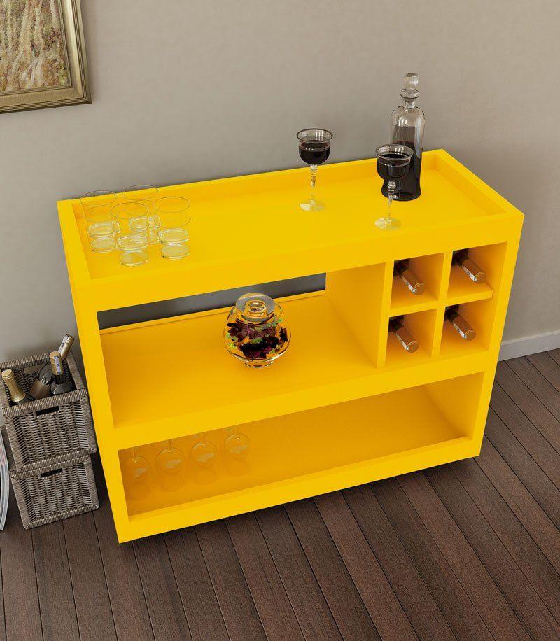 Aparador Bar Adega JB 4050 Luxo Amarelo - JB Bechara