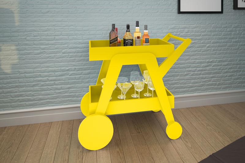 Aparador Bar JB 4004 Amarelo - JB Bechara