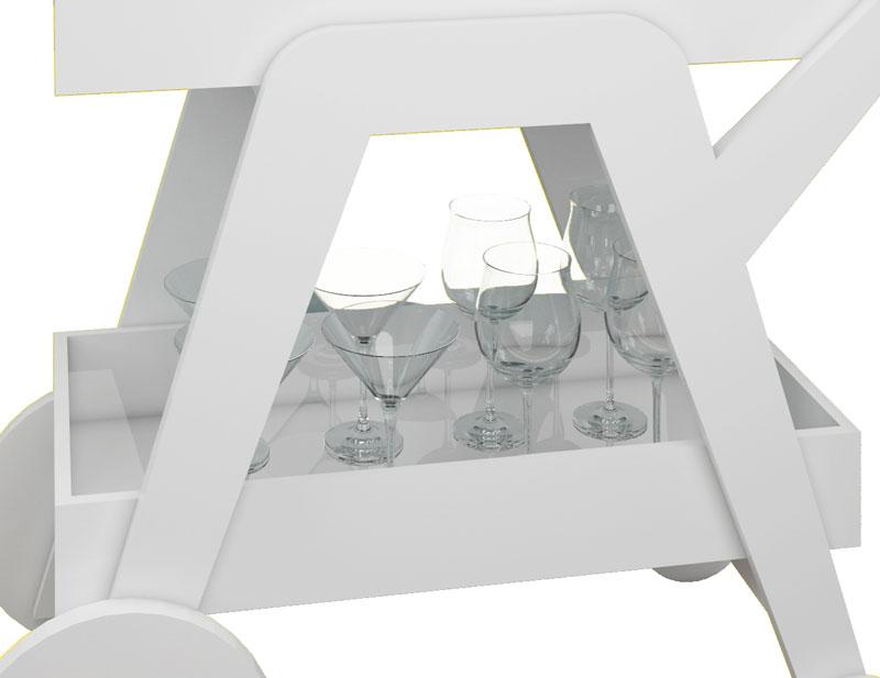Aparador Bar JB 4004 Branco - JB Bechara