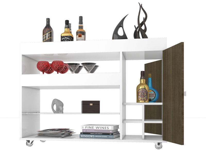 Armario Embutido Cozinha ~ Aparador Bar JB 4021 Branco com Teka JB Bechara