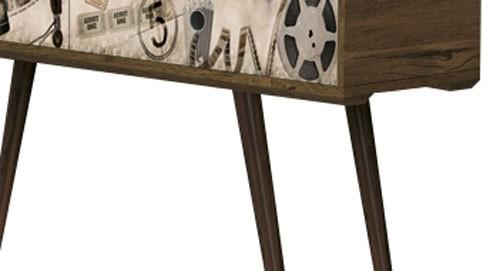 Aparador Cordoba Nogal Rústico com Cinema - Edn Móveis
