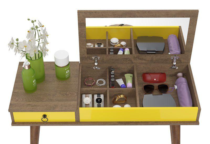 Aparador Multifuncional Demolição Amarelo - Patrimar Móveis  - MoveisAqui - Loja de móveis online!