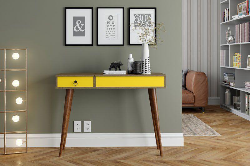 Aparador Multifuncional Demolição com Amarelo - Patrimar Móveis
