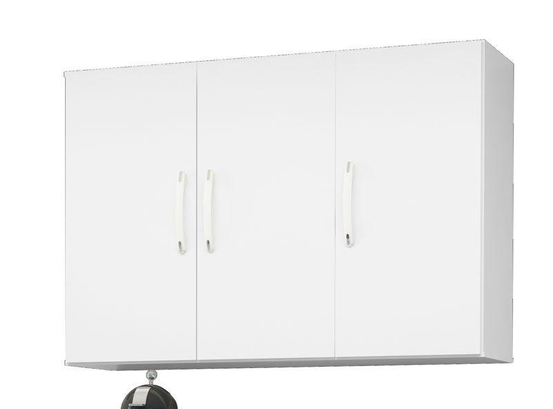 Armário Aéreo 3 Portas Branco - EJ Móveis