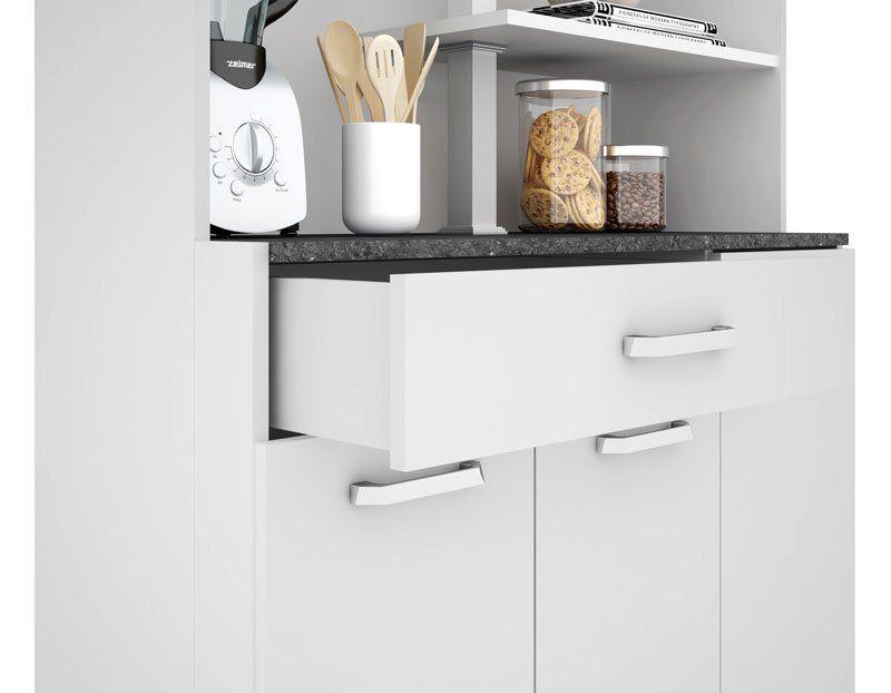 Armário de Cozinha Atenas Plus 06 Portas Branco - Madine