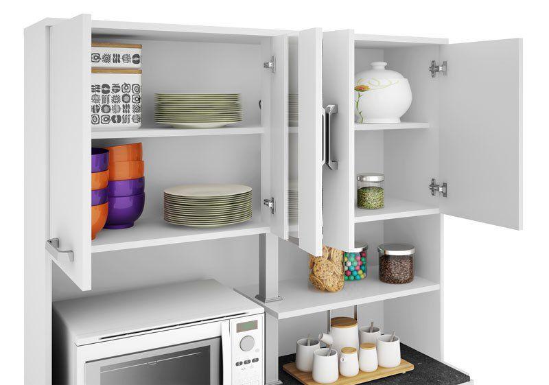 Armário de Cozinha Atenas Plus 08 Portas Branco - Madine