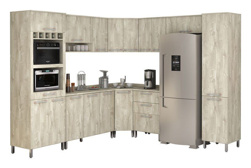 Armário de Cozinha Completo Ravena Ártico - Vitamov