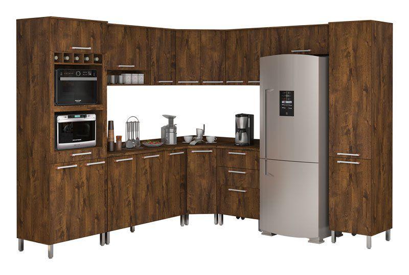 Armário de Cozinha Completo Ravena Malbec - Vitamov