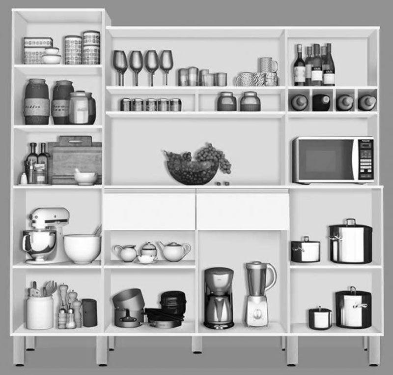 Armário de Cozinha Completo Brasil 2.3 Avelã com Teka - CSA Móveis