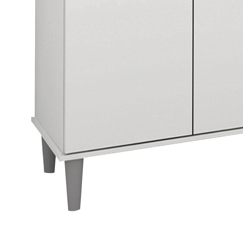 Armario De Cozinha Completo Perola 1,37m Branco - Sao Miguel Moveis