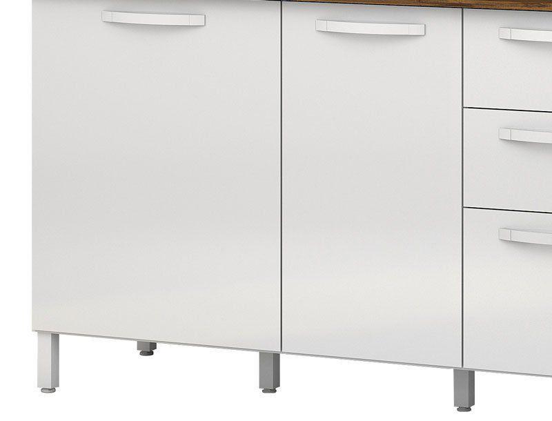 Armário de Cozinha Diamante 4 Portas Branco - Vitamov